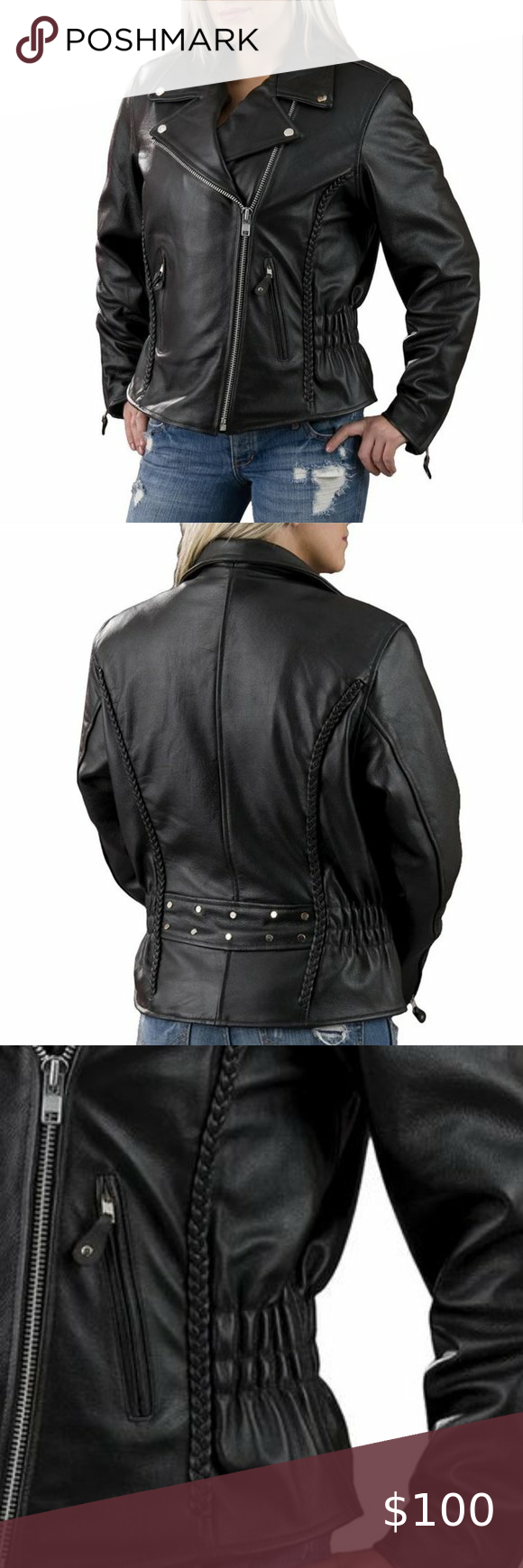 Interstate Leather Classic Leather Moto Jacket Xl Leather Moto Jacket Classic Leather Moto Jacket [ 1740 x 580 Pixel ]
