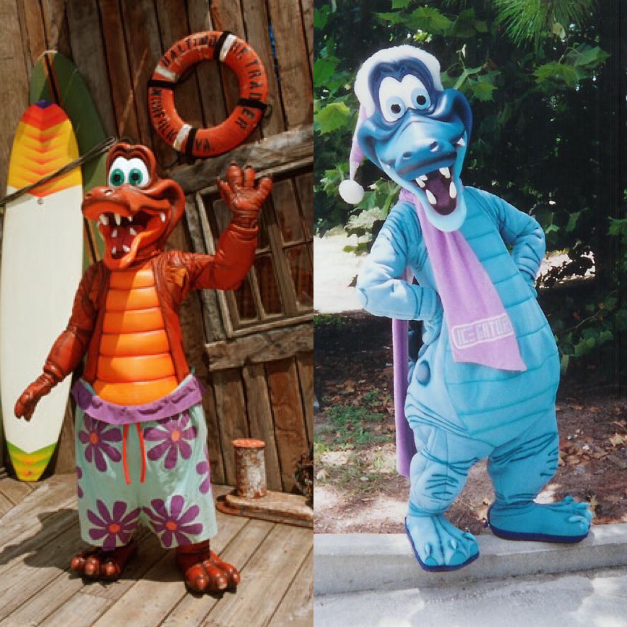 The Two Mascots Of The Disney Water Parks