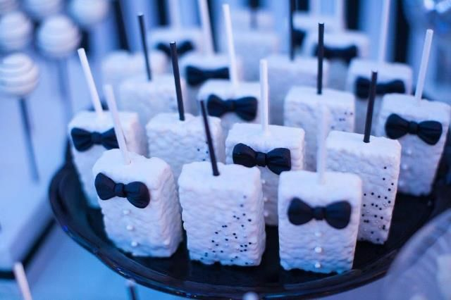 Jared's Black and White Little Gentleman Themed Party – Sweet Treats