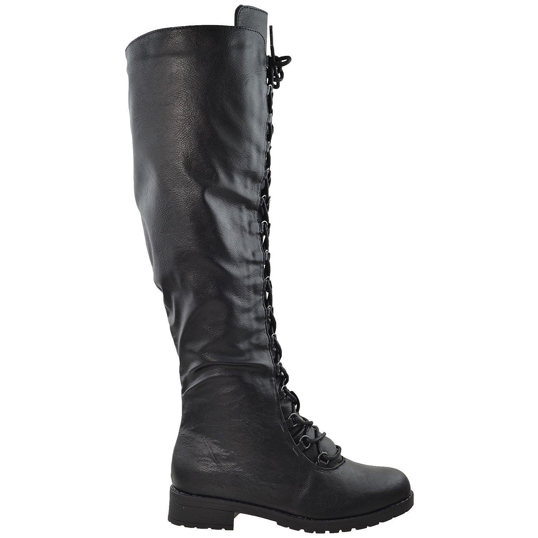Slits denim bodycon dress knee high boots lace up back nigeria