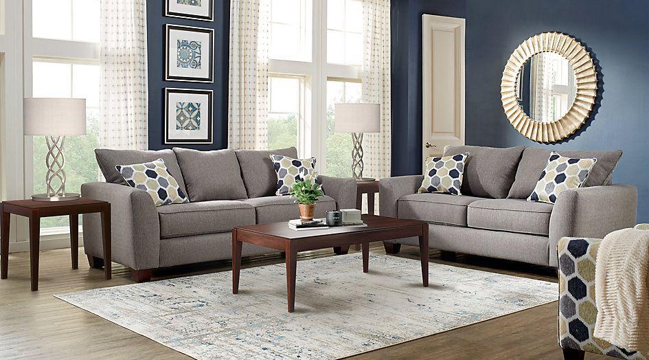 Bonita Springs Gray 5 Pc Living Room | Living Room | Grey ...