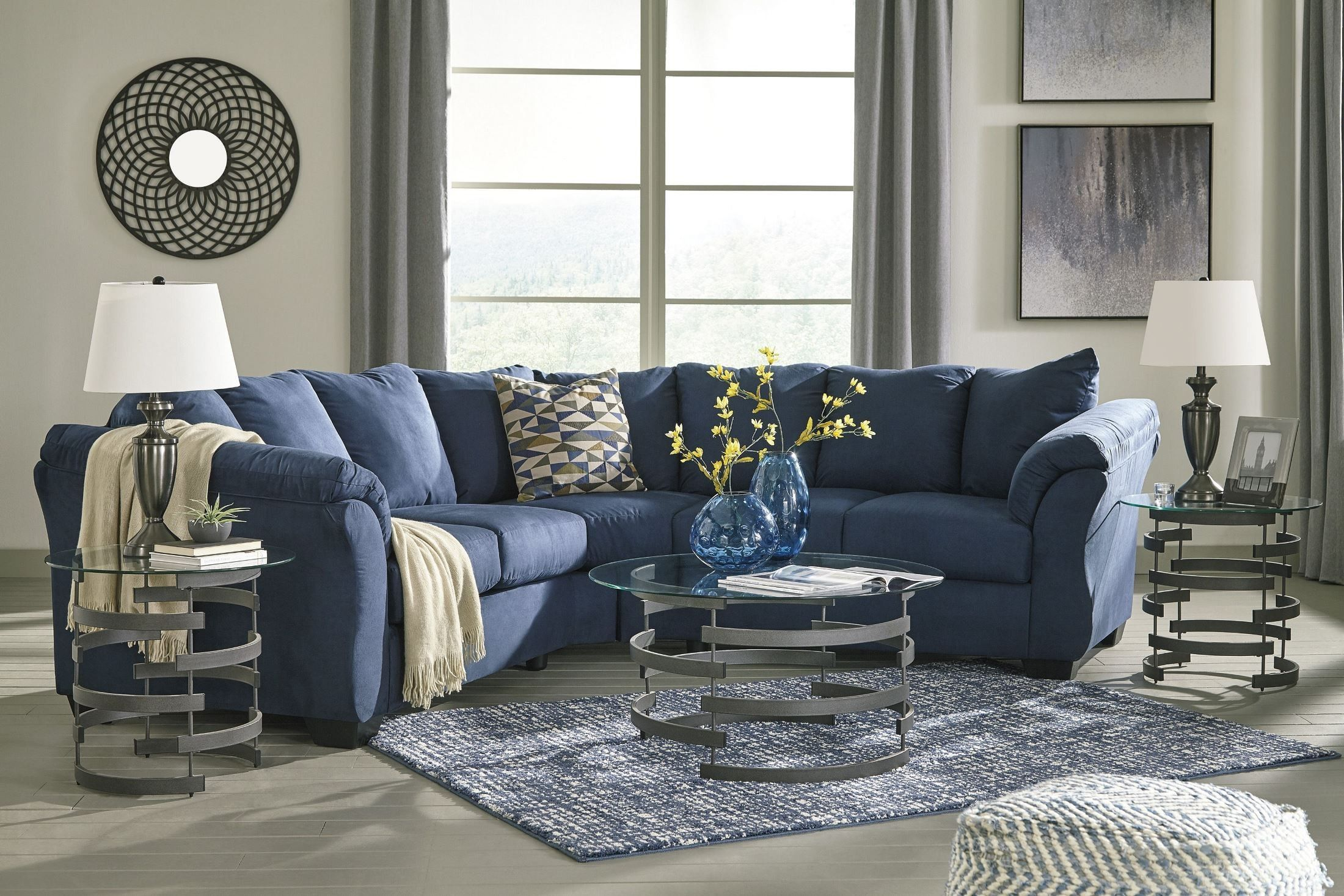 Darcy Blue Sectional Living Room Grey Blue Couch Living Room Grey Couch Living Room