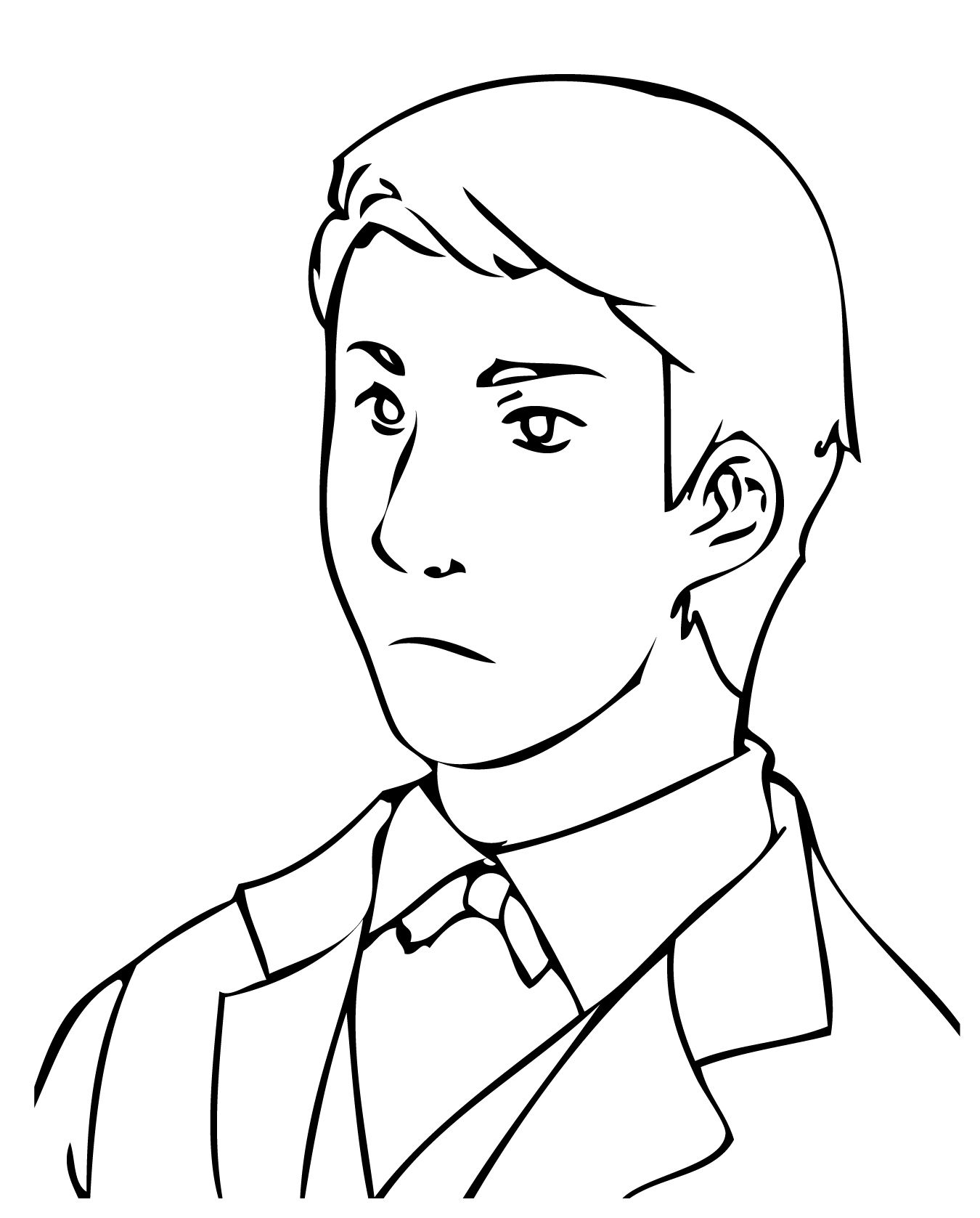 Coloring pages queen elizabeth - Thomas Edison As Young Man Coloring Page