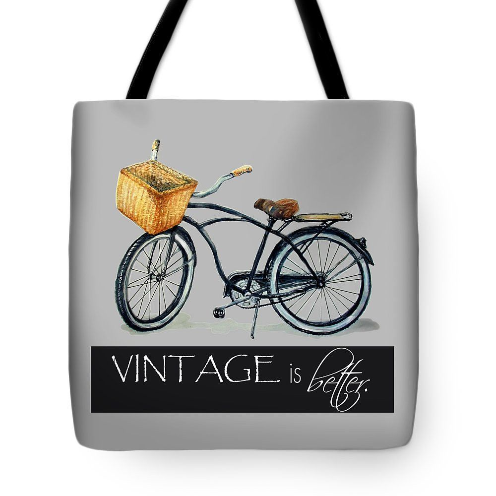 Travel Tote Bags | Hand-Painted Watercolor Bike Graphic Shop Bags