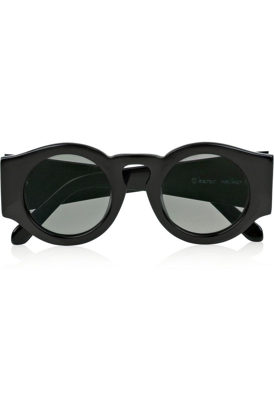 Karen Walker Blue Moon round-frame acetate sunglasses – 65% at THE ...