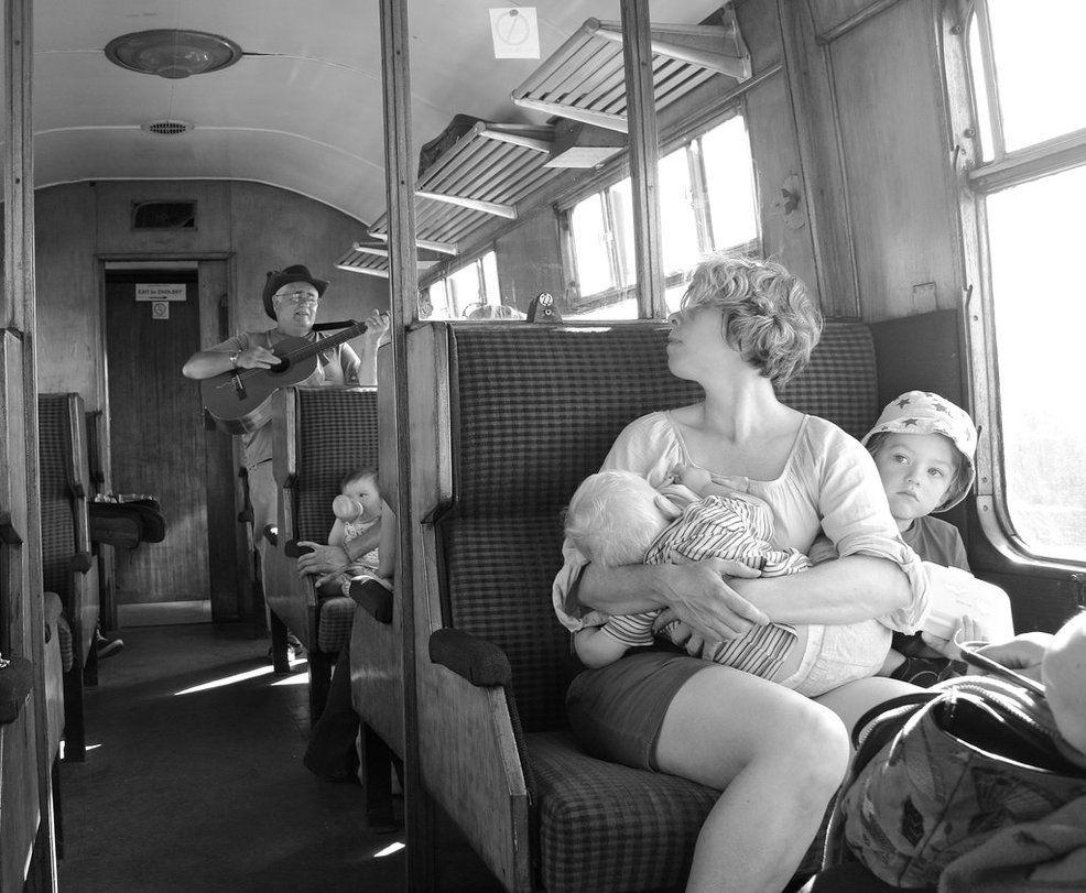 In a railway carriage by wilkopicture.deviantart.com on @DeviantArt