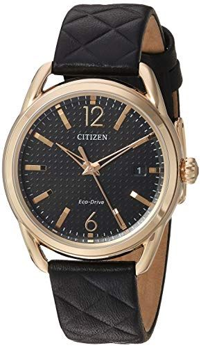 Citizen Womens EcoDrive Leather Strap Watch