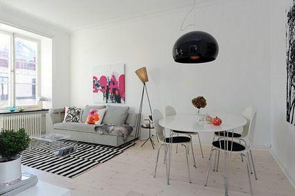 Formas simples con mucho estilo moderno decoraci n for Decoracion depto chico