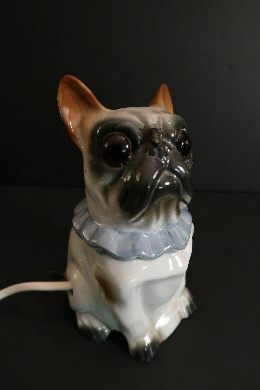 Antique Schauberg French Bulldog Lamp Perfume Burner Germany 1920 Ebay French Bulldog Bulldog Vintage Dog