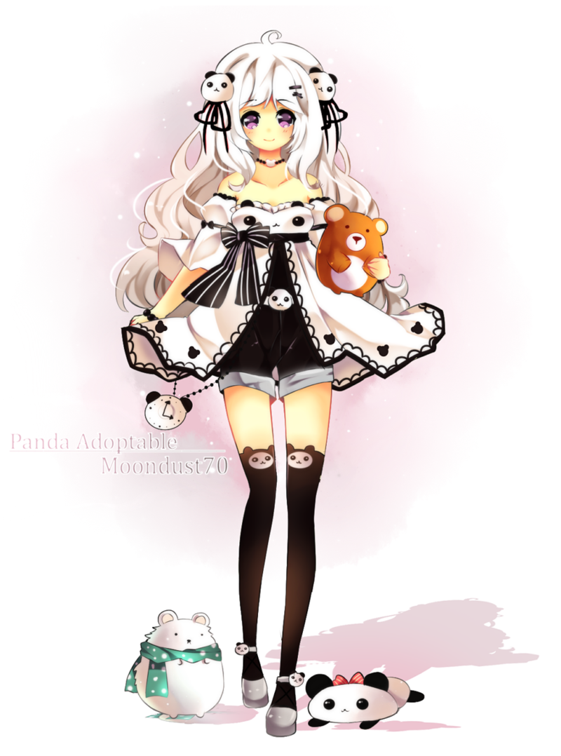 Panda Girl On Tour By Maruuki On Deviantart Kawaii Girl Twilight Princess Midna Panda Outfit