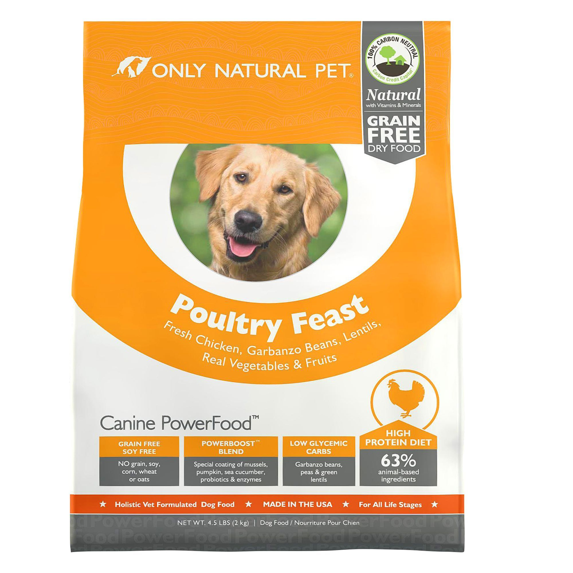 Only Natural Pet Canine Powerfood Dog Food Limited Ingredient
