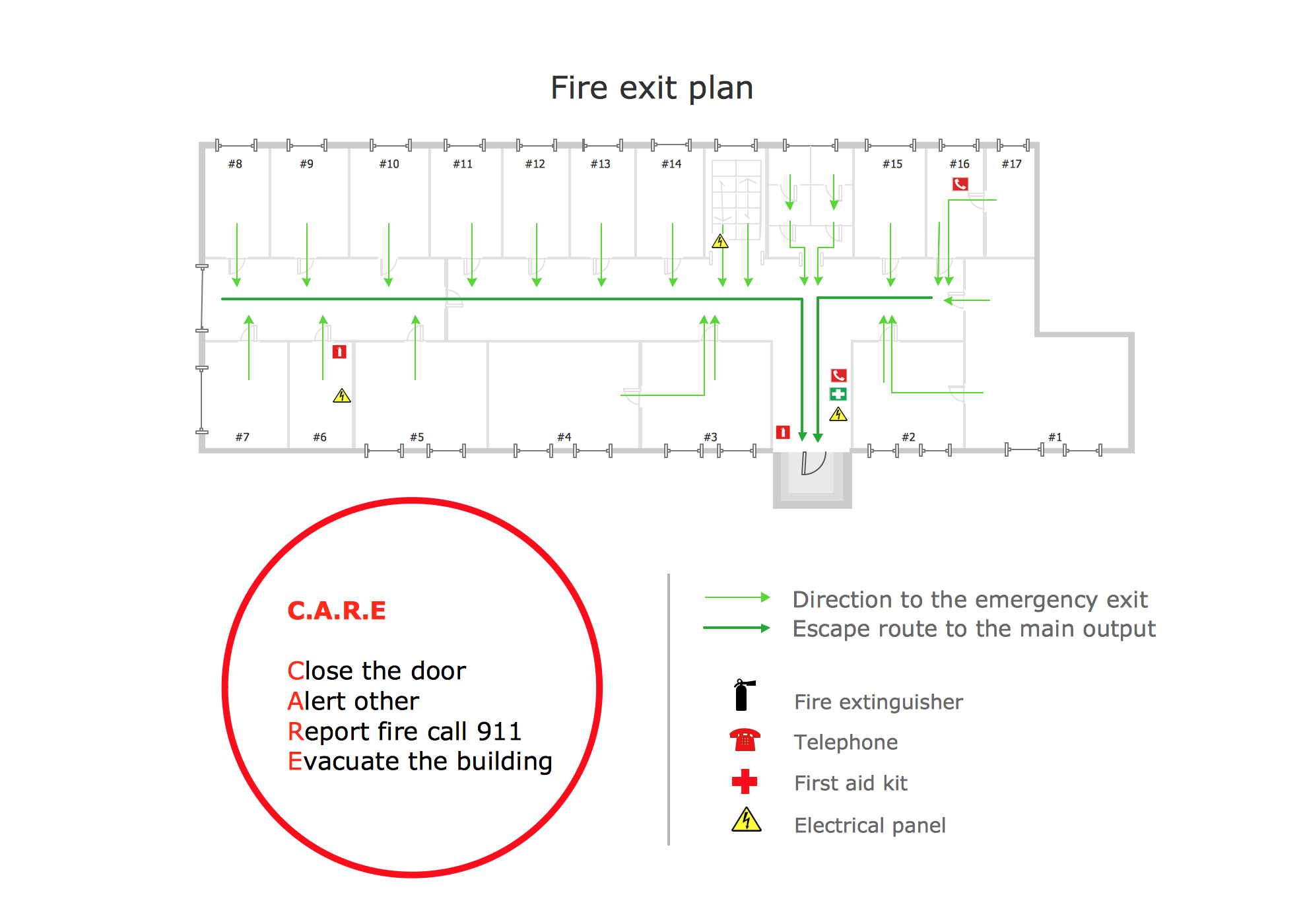 Fire Exit Plan Hotel floor plan, Emergency response plan