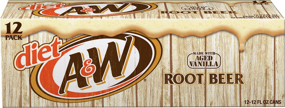 Diet A And W Root Beer 12 Fl Oz 12 Pack Diet Root Beer Root Beer A W Root Beer