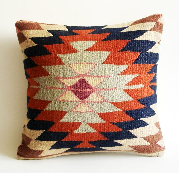 Turkish Kilim Throw Pillows : Sukan / Handwoven Vintage Turkish Kilim Pillow Cover, Decorative Pillows, Accent Pillow, Throw ...