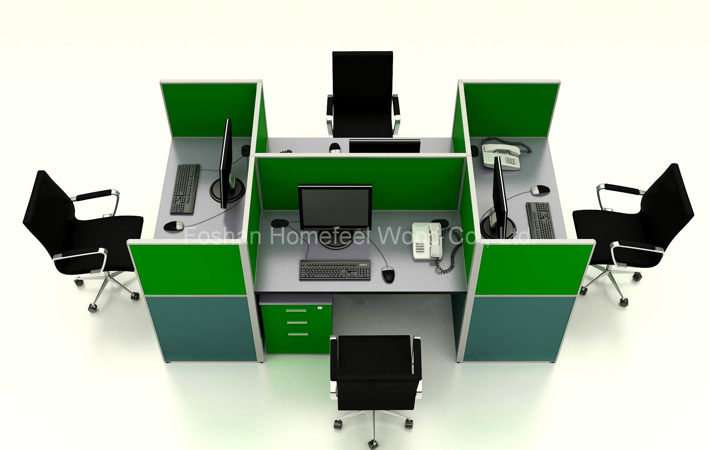 Modern Office Cubicles High Partition Modular Workstation Hf