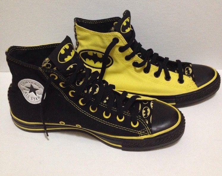 f7153970860601 Rare Converse BATMAN DC Comics Chuck Taylor All Star Hi-Tops Size 9 135774C   Converse  FashionSneakers