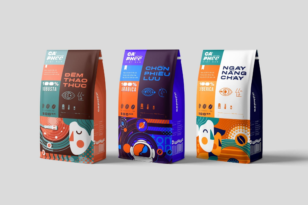 Cà phê Việt Nam Vietnam Coffee Packaging design