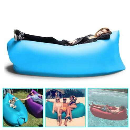 Excellent New Portable Inflatable Air Bed Sofa Watch Video Bralicious Painted Fabric Chair Ideas Braliciousco