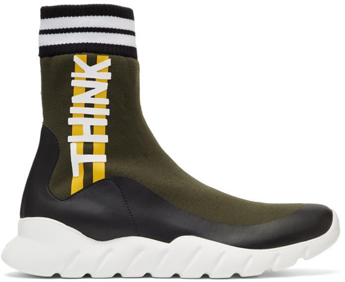 8614a1b2f2 Fendi Multicolor Sock Think High-Top Sneakers | shoes v roce 2019