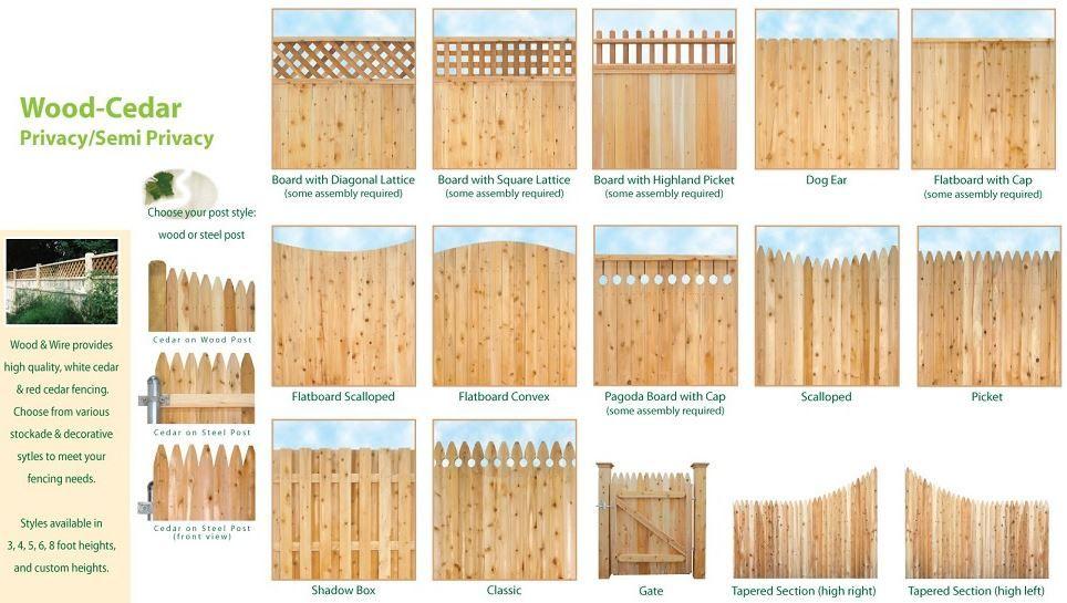Styles Of Yard Fences Wood Fence Design Fence Design Wooden Fence Panels