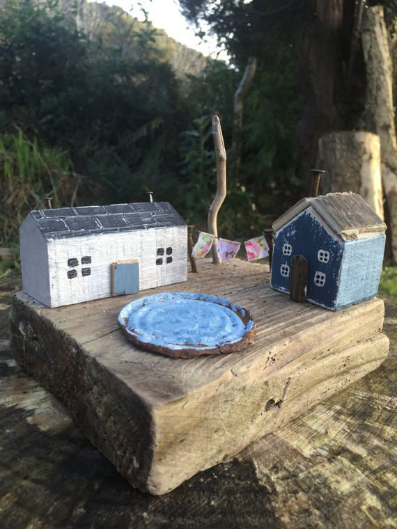 Driftwood reclaimed salvaged wood houses with by TheNakedTeapotCo