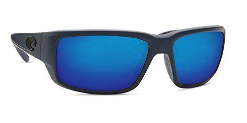 Costa Del Mar TF14OBMP Fantail Unisex Midnight Blue Frame Blue Mirror Lens Wrap Sunglasses