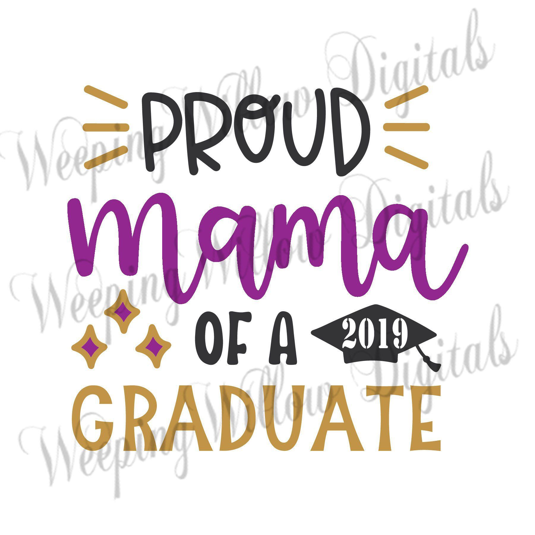 Graduate SVG, Proud Mama Of A Graduate, Instant Digital