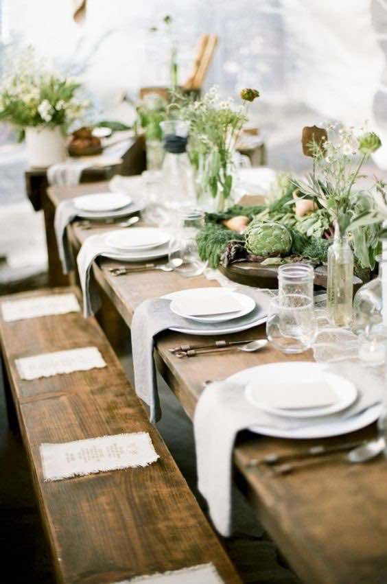 Top 20 Rustic Outdoor Table Settings The Bohemian Wedding Outdoor Table Settings Wedding Table Settings Table Decorations