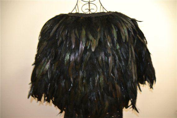 00af28d2b41 Black feather cape feather jacket rooster feather cape 5 ply Carnival  feather shoulder shrug Shawl