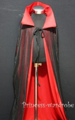 Halloween Vampire Bloodsucker Cape Cloak Costume 3-5Y