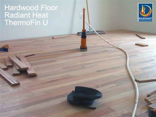 This Is A Hardwood Floor Installed Over Thermofin U Radiant Heat Transfer Plates By Radiant Engineeri Radiant Floor Heating Radiant Heat Radiant Heating System