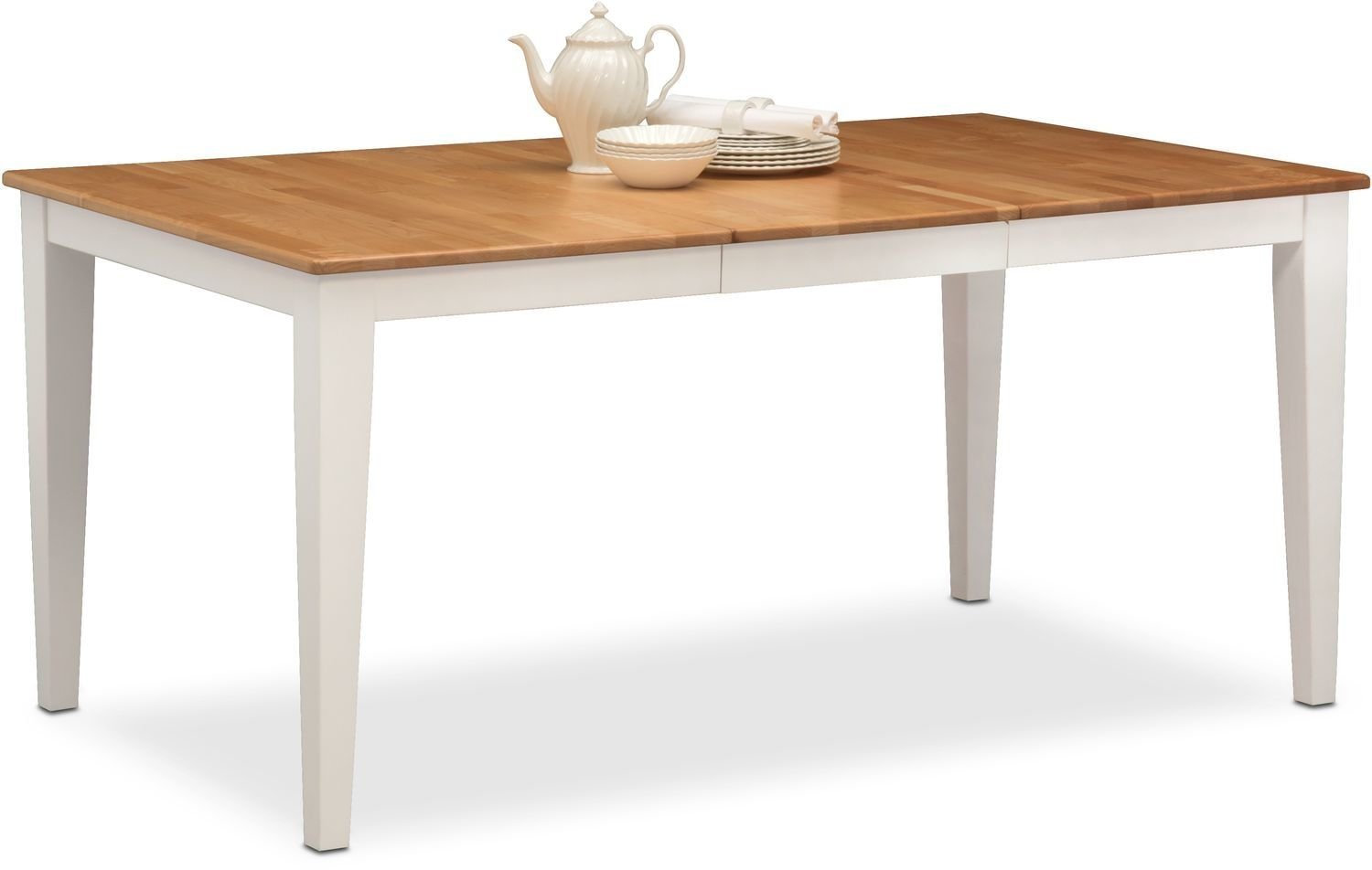 Nantucket Table Maple And White Dining Table Dining Furniture