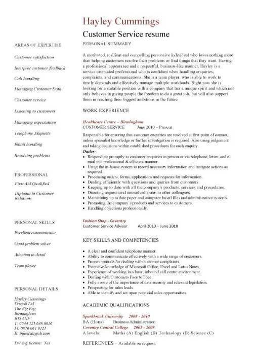 Customer Service Resume Template -        (adsbygoogle = window.adsbygoogle || []).push();   Customer Service Resume Template will give ideas and strategies to develop your own resume. Do you need a strategic resume to get your next leadership role or even a more challenging position? There are so many kinds of Free Resume ... - http://allresumetemplates.net/1806/customer-service-resume-template/