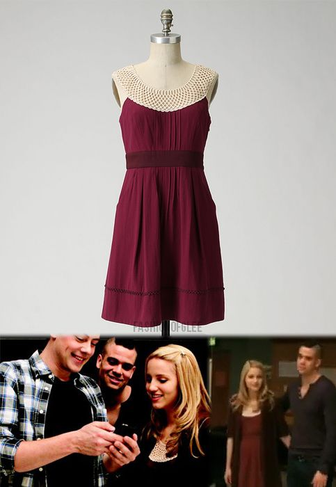 We were unfairly denied a shot of this lovely dress in its actual episode, 'Hell-O', but thanks to People magazine and this promo for the Season 1 Back 9, we can imagine, 'what if'…  Anthropologie Betine Dress - $65.00 (EBAY Size 4)