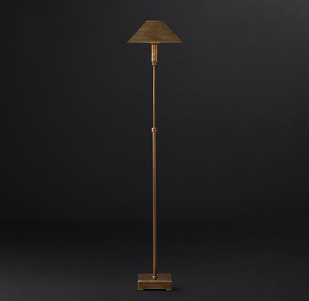 Pyramid Telescoping Floor Lamp with Metal Shade | lighting ...
