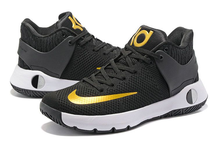 5f6d510b01b1 NEW KD Trey 5 IV EP Flyknit Black Gold