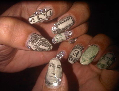 Oval nails tumblr hood but too good to pass up lol nails one dollar bill nails designs nail art prinsesfo Images