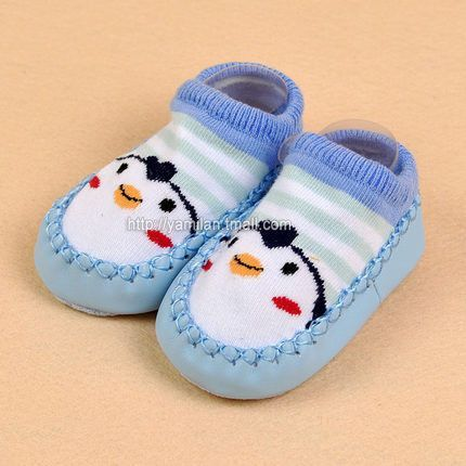 Baby Shoes Floor Socks Leather Sole Non Slip Thick Towel Socks