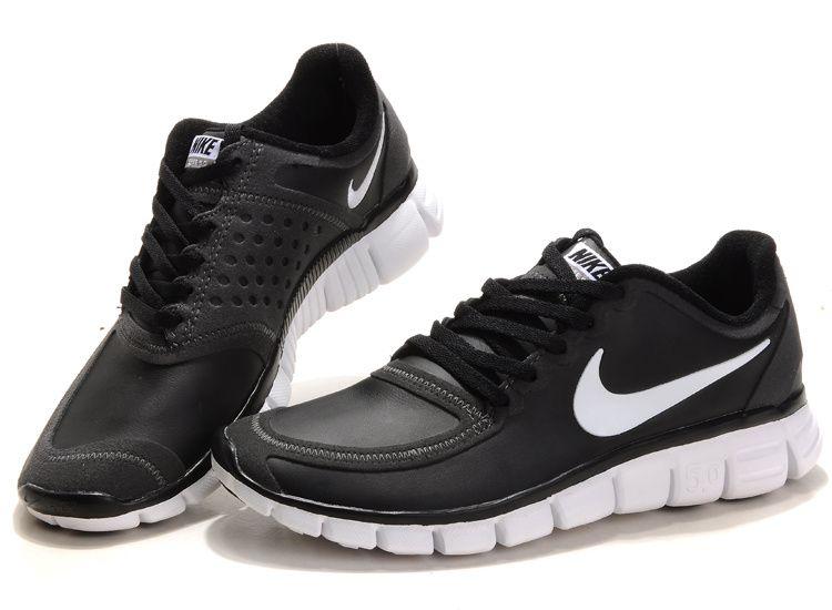 leather womens nike free  nike free 50 Womens shoes leather black white  Womens Nike