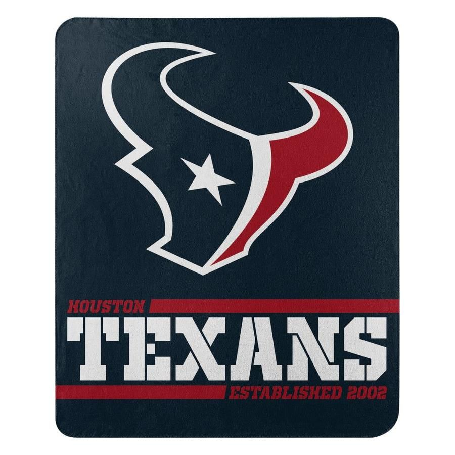 The Northwest Company Nfl 031 Split Wide Fleece Throw Multi Polyester Throw Lowes Com In 2020 Houston Texans Logo Houston Texans Texans Logo