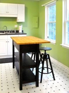 hack an ikea sideboard into a kitchen island - Ikea Bar Table Hack