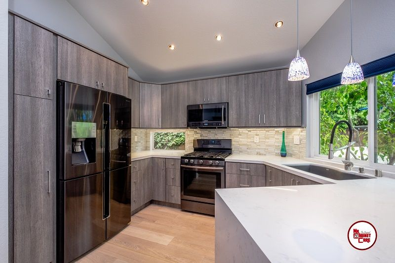 Modern Kitchen Design Grey Cabinets White Quartz Countertop Modern Kitchen Design Grey Modern Kitchen Design Modern Kitchen