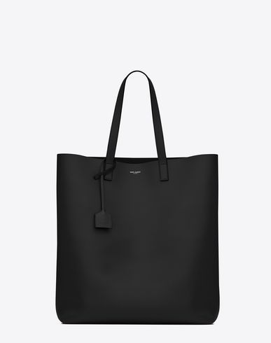 SAINT LAURENT SHOPPING SAINT LAURENT TOTE BAG IN BLACK LEATHER ...