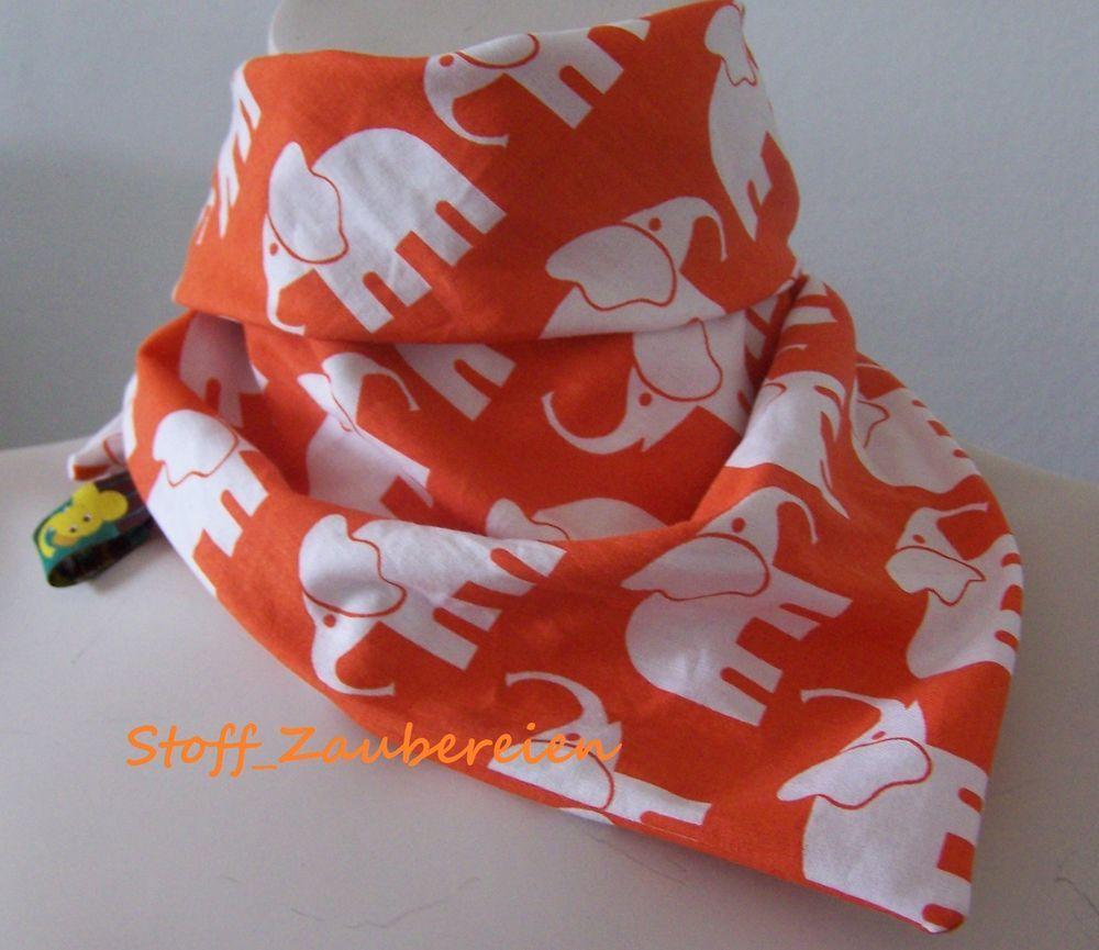Kinder Mädchen Jungen Halstuch Dreieckstuch Tuch Bandana Wendetuch Elefanten