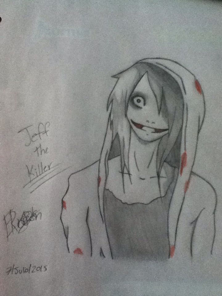 Here is a drawing I made of Jeff the Killer