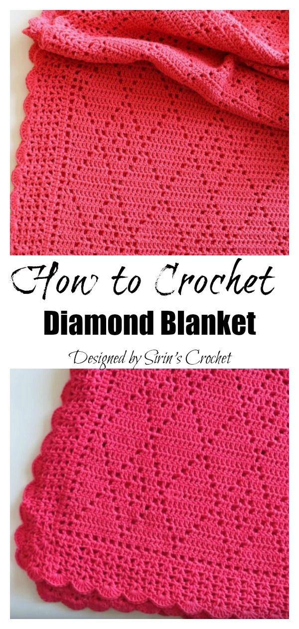 Diamond Blanket Free Crochet Pattern