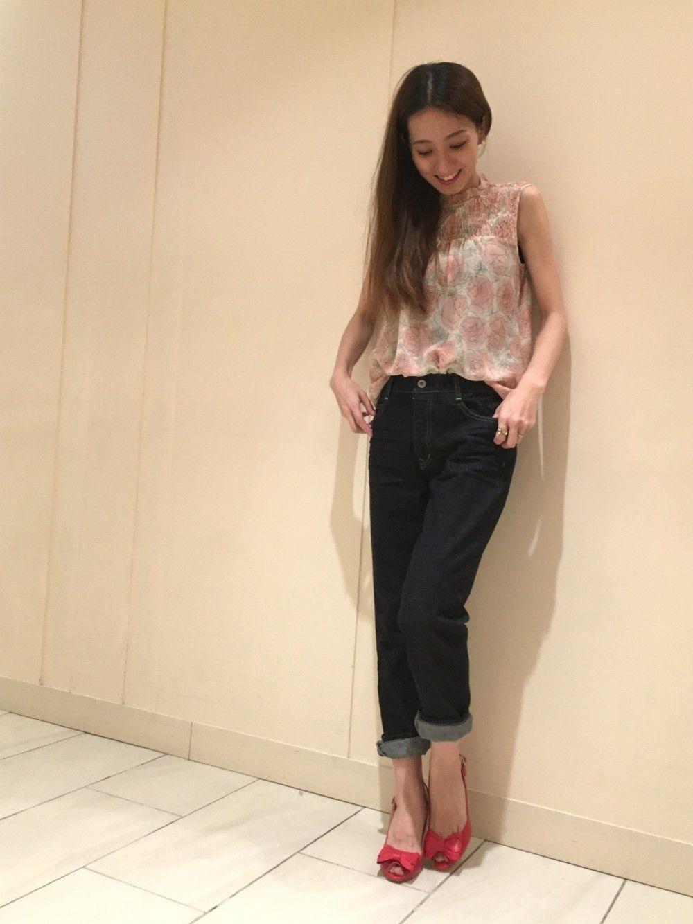 yukaさんのシャツ/ブラウス「JILLSTUART フレールシルクブラウス」を使ったコーディネート