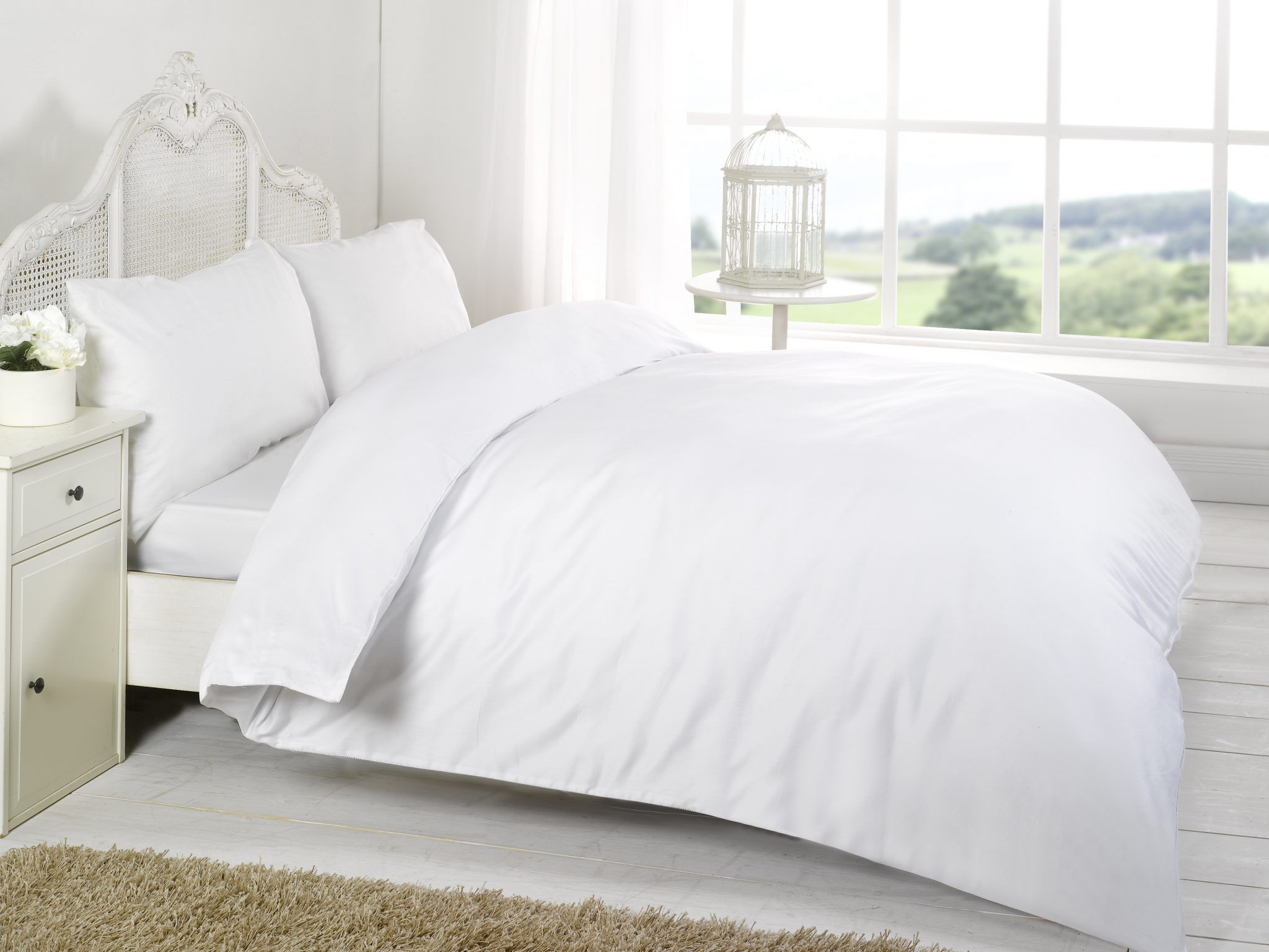Pretty White Fitted Sheets In 100 Cotton 400tc Whitesheets