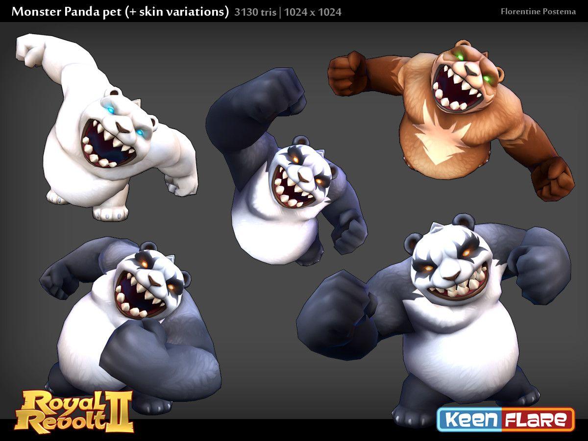 Artstation Royal Revolt 2 Character Monster Panda Pal Florentine Postema Revolt 2 Character Pals