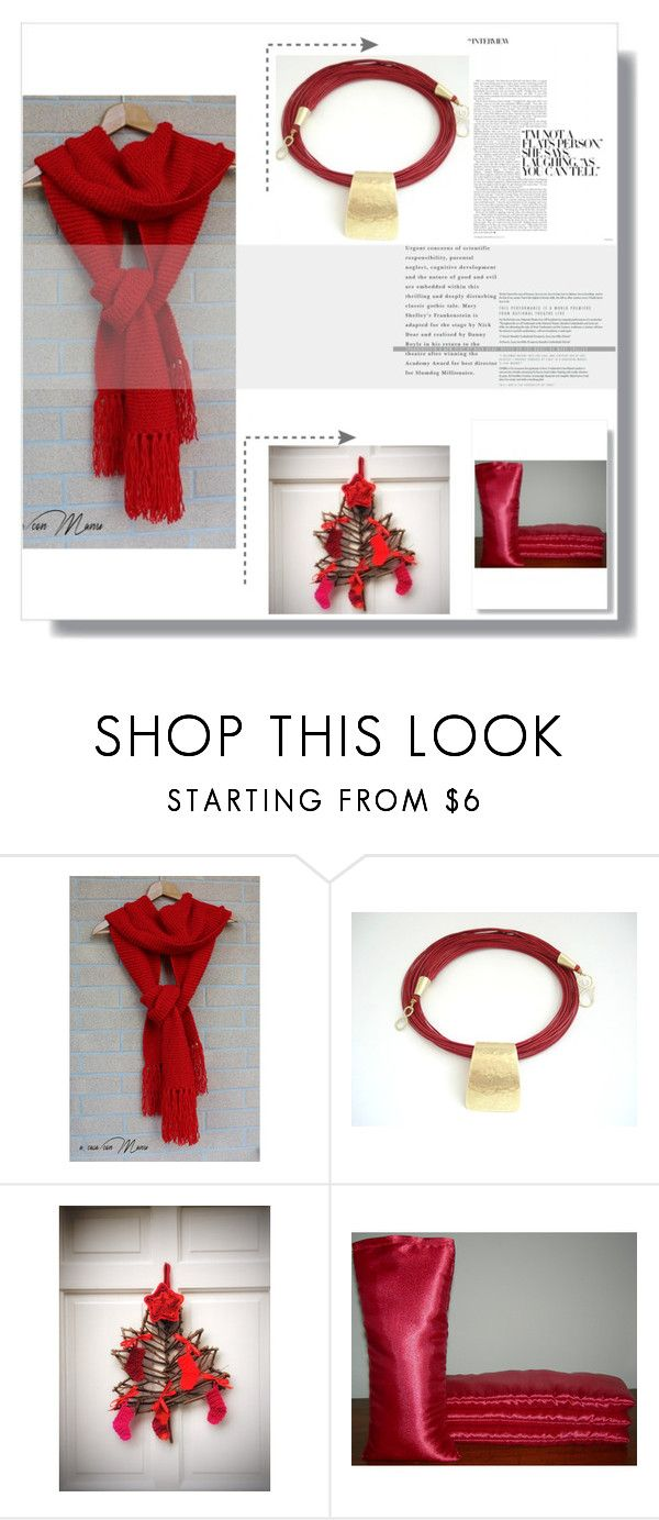 """""""In the Red"""" by therusticpelican ❤ liked on Polyvore featuring modern and contemporary"""